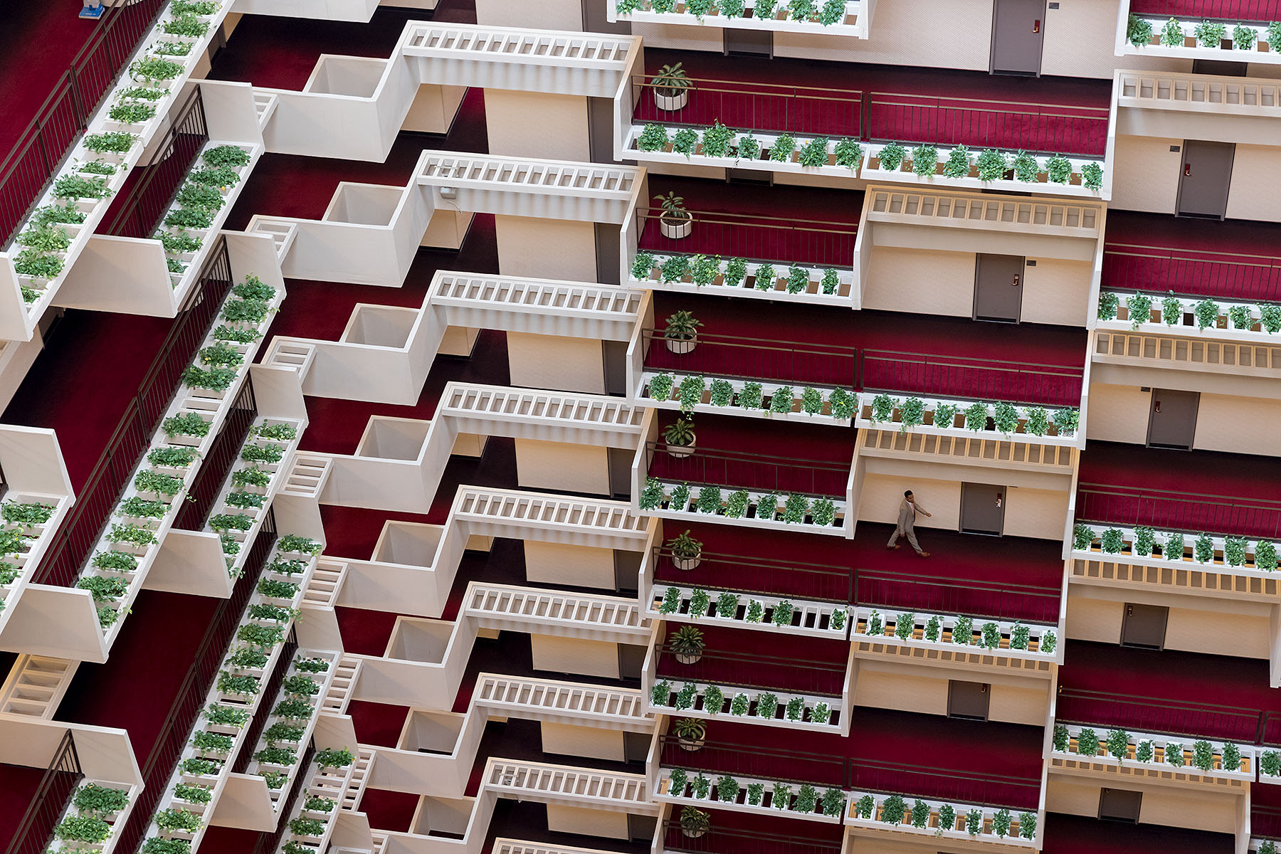interior of a hotel atrium