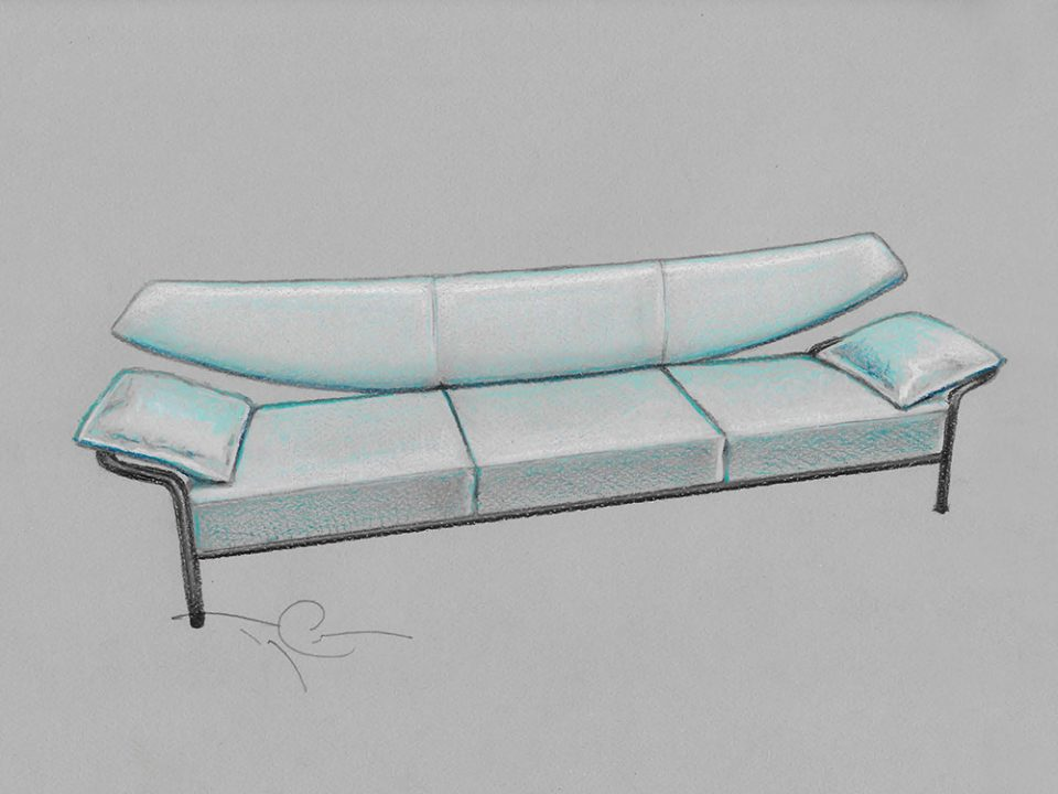 drawing of a sofa