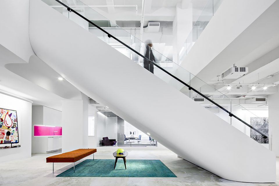 Interior view of Red Bull New York Office (INABA Williams).