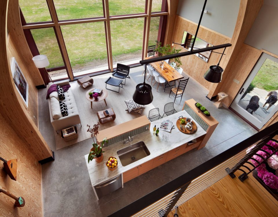 Interior view of the Hudson Passive Project, Hudson (BarlisWedlick Architects).