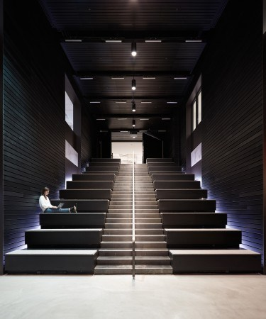 Interior view of Media Headquarters, New York (Olson Kundig).