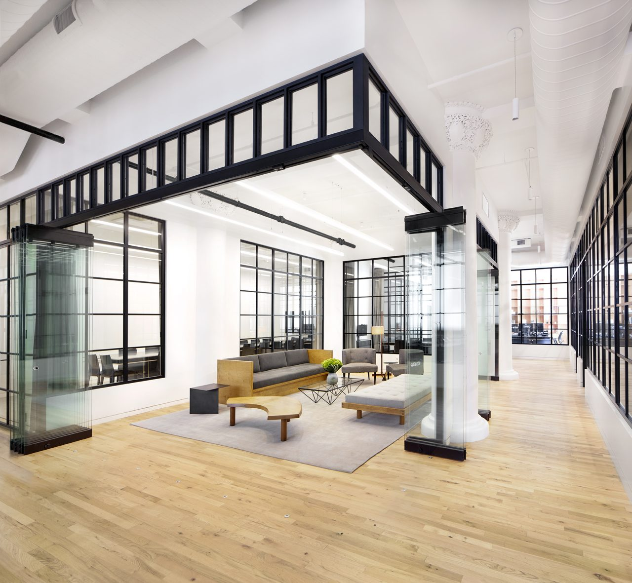 Interior view of Bleecker Street Office, New York (tacklebox architecture).