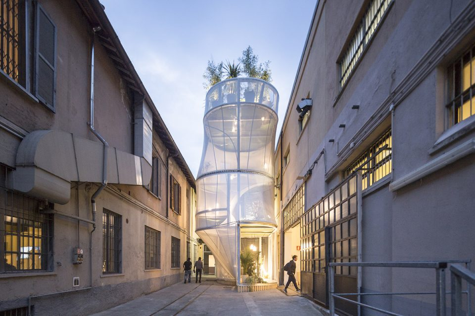 Exterior view of Mini Living, Milan (SO-IL).