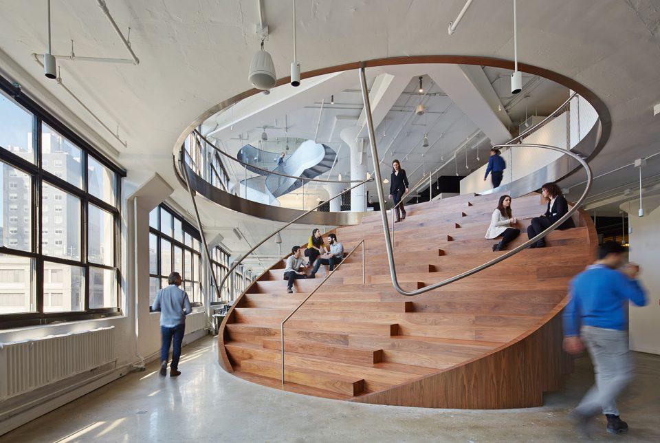 Interior view of the Weiden+Kennedy, New York (Bruce Damonte/Work AC).