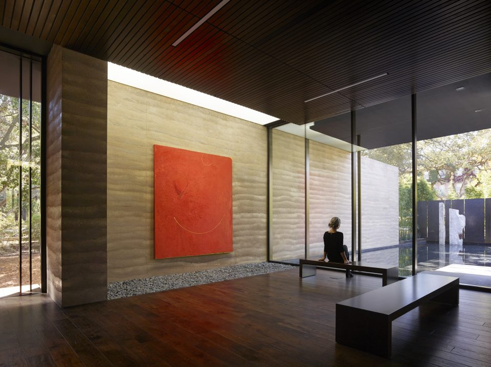 Interior view of Windhover Contemplative Center, Stanford (Aidlin Darling Design).