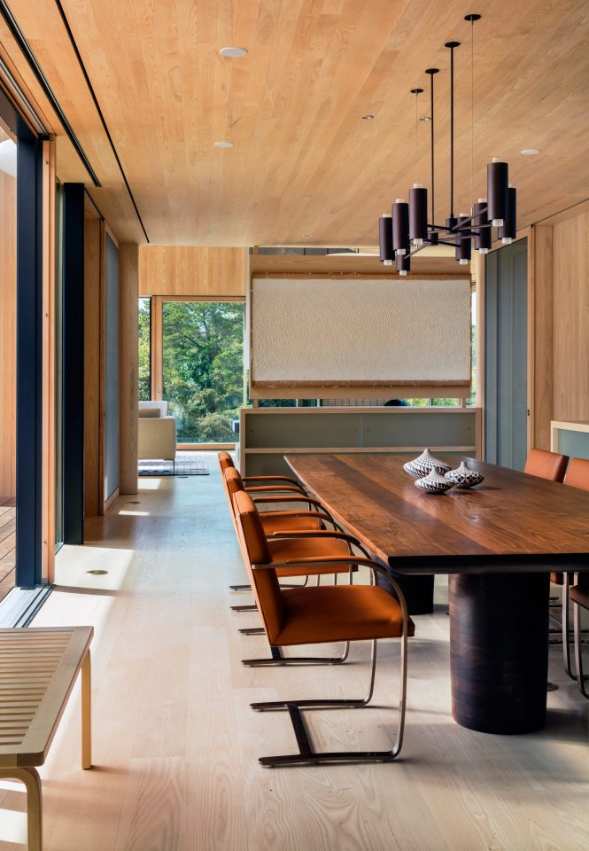 Interior view of the Chilmark House, Martha's Vineyard by Schiller Projects
