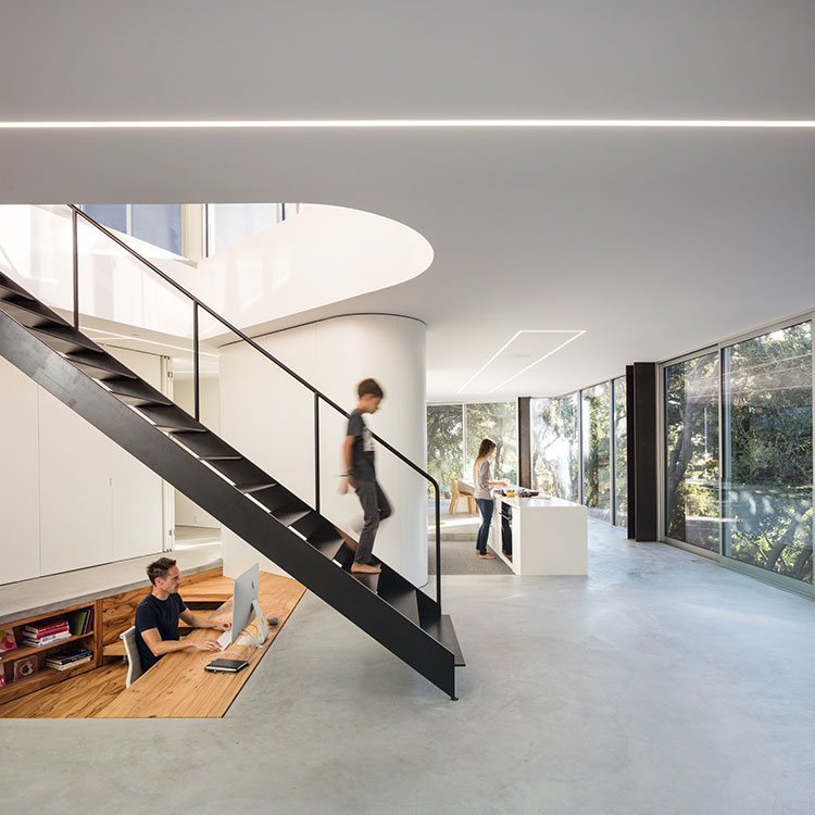 Interior view of Pam & Paul's House, Cupertino (Darren Bradley/Craig Steely).