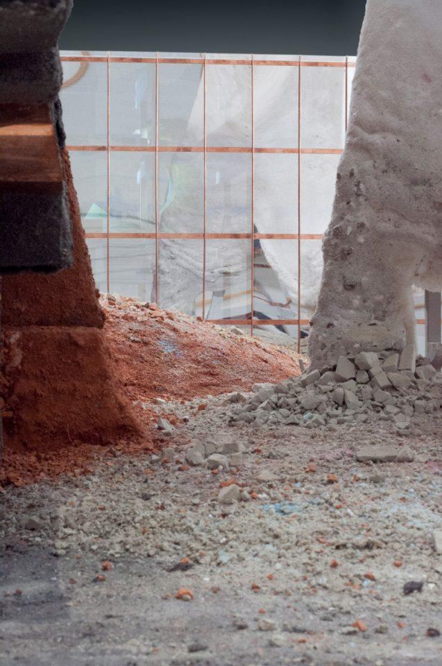 Piles of ground stone