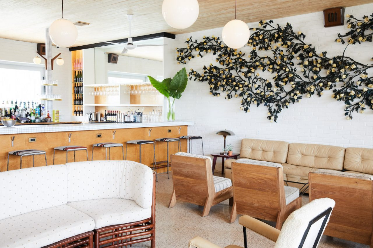 Interior photo of a bar lounge