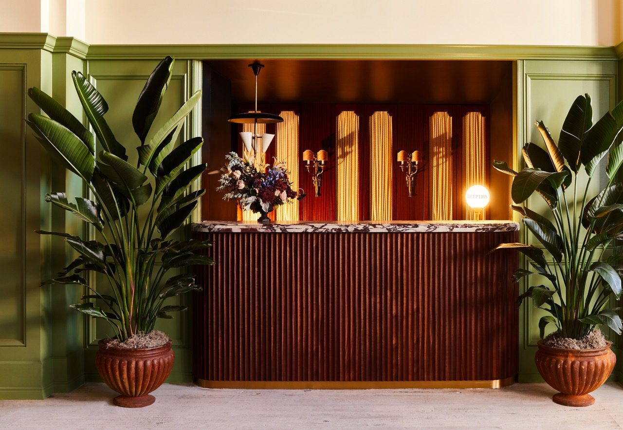 Photo of hotel reception desk