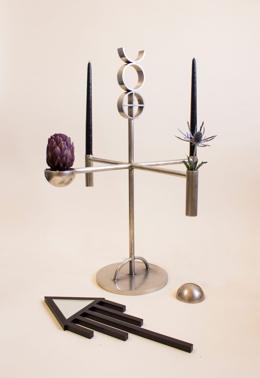 Portrait photo of a candelabra