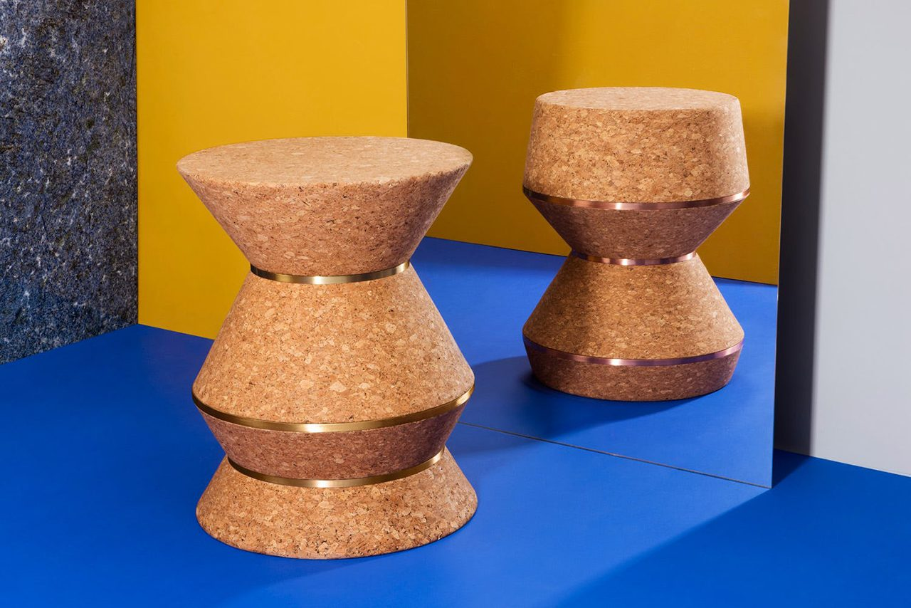 two stools/side tables