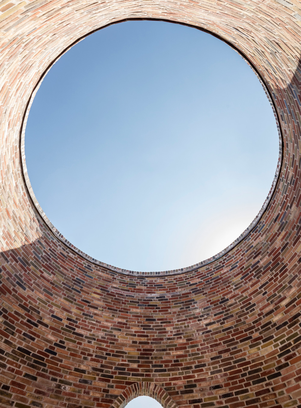 An oculus made of brick
