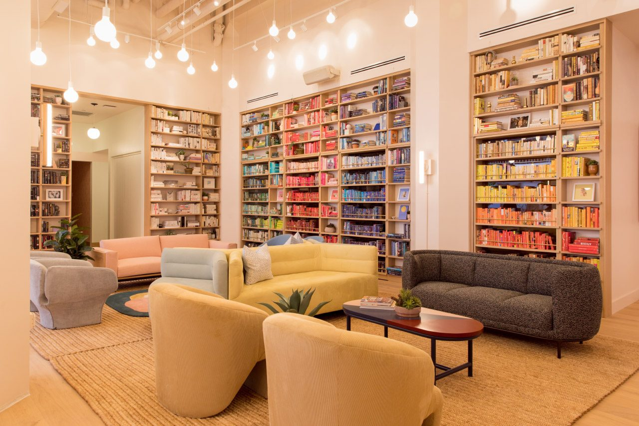 The library of the Wing offshoot in DUMBO is stocked with books from the Strand.