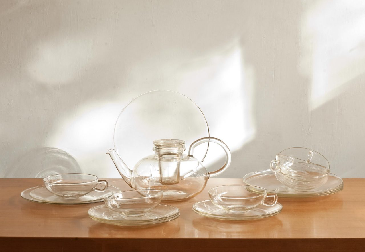 A glass tea set