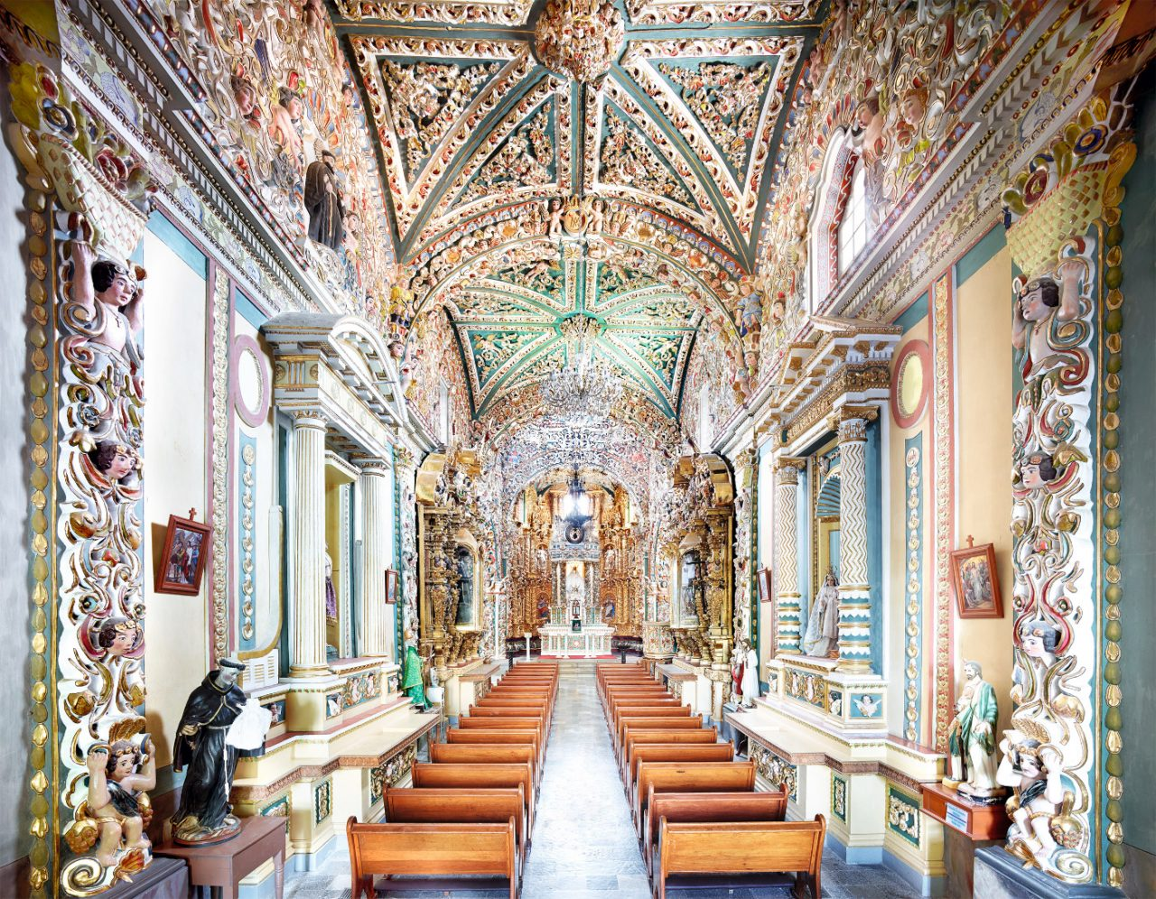 Interior of a highly decorated church