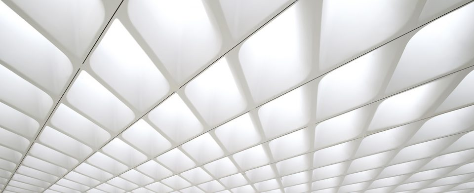 Detail of the interior architecture of a museum