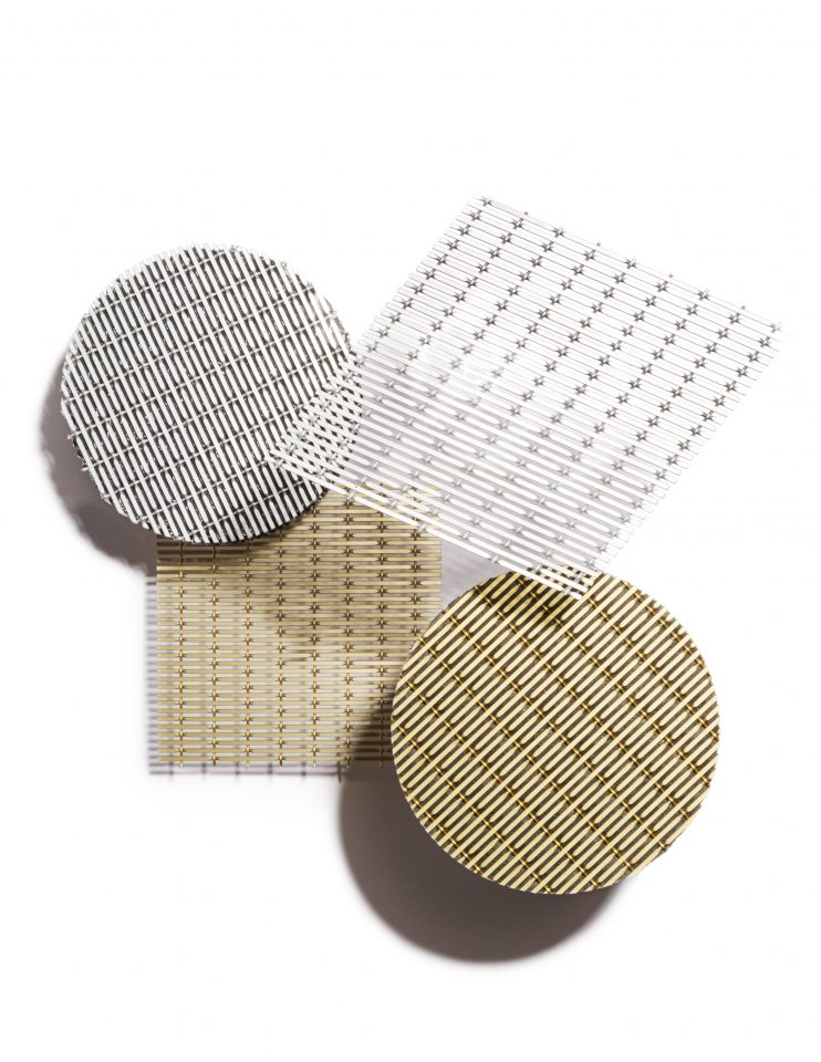 Photo of acoustic solutions made of metal mesh